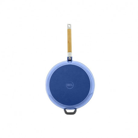 Сковорода чугунная эмаль (синий) 26 см БИОЛ со съемной ручкой