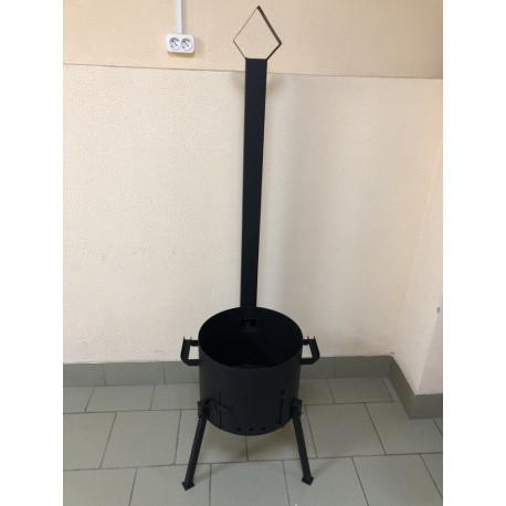 2 мм Печь под казан 8 литров с трубой, заслонкой и дверцей