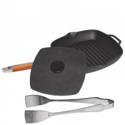 Сковорода-гриль с крышкой-прессом (240 мм) 1024