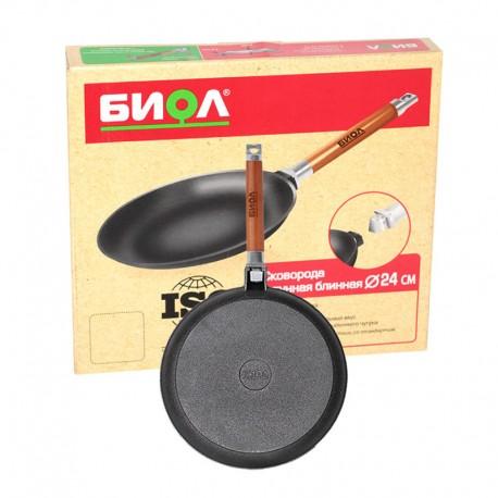 Сковорода блинная с ровными бортами (220 мм)