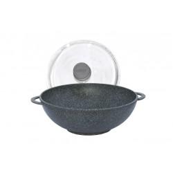 Сковорода WOK «Гранит грей» c антипригарным покрытием (280 мм) 28034ПС