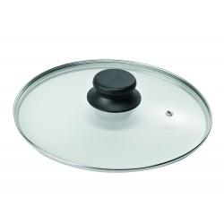 """Крышка стеклянная низкая с металлическим ободом для посуды """"Биол"""" (240мм)"""